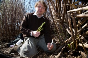 Andy Hamilton with Japanese knotweed