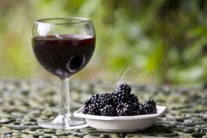 Wild blackberry wine