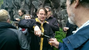 Andy Hamilton on one of his wild booze walks