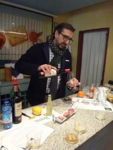 Roberto Bava - making a martini